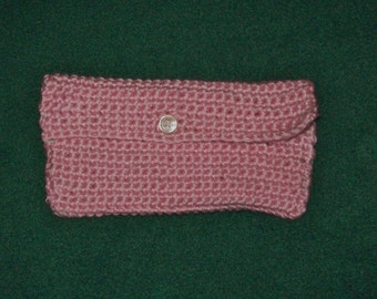 Clutch, Makeup Bag,Toiletry Bag, Coupon Holder Rose Pink