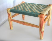 Heirloom Child's Bench or Stool - Great Kid's Gift - Woven Seat