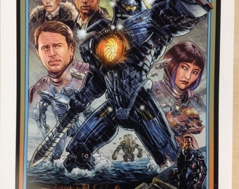 Pacific Rim poster by Benjamin Dewey 13 by 19