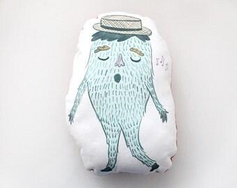 Whistling Monster Novelty Pillow