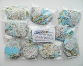 Wholesale - 10 Map Heart Garlands - 60 Inches Long - Great for Resale - Going Away Party Decorations - Wedding Decor - Party Supplies