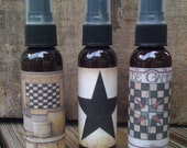 Primitive Room Spray - Set of 3 - Star, Game Board Collection - 2 oz Amber Bottles - Highly Scented - Everyday - Only 11.99