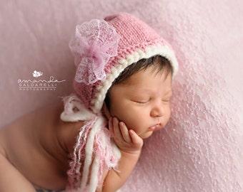 Newborn photo prop, newborn hat, newborn boy, newborn girl, knit newborn hat, newborn props, Newborn bonnet.  Choose your color