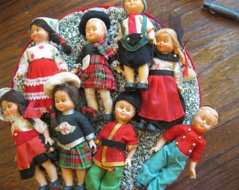 Vintage Dolls, International, Scottish, Scotland, Russian, etc.