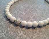 White Beaded Necklace for Jane