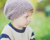Grey Crochet Boy's Hat, Toddler Girl's Hat, Crochet Slouch Hat, Slouchy Beanie for Toddler, Slouchy Hat, 12 Months - 4T (Taylor)