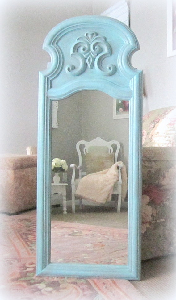 baby girl nursery decor shabby chic mirror for sale teal blue. Black Bedroom Furniture Sets. Home Design Ideas
