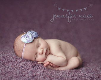 Bubbles and Baubles - mermaid inspired rosette headband with pearls and netting