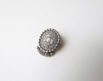 Antique Music Pin Marked 1932 Sterling Silver