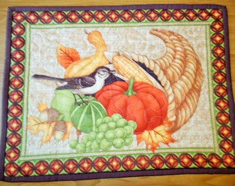 Fall's Basket Quilted Table Runner