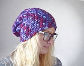 Purple Hat - Super Soft Purple Beanie - Unisex Knitted Accessory - Multicoloured - Ladies Accessories -Christmas Gifts