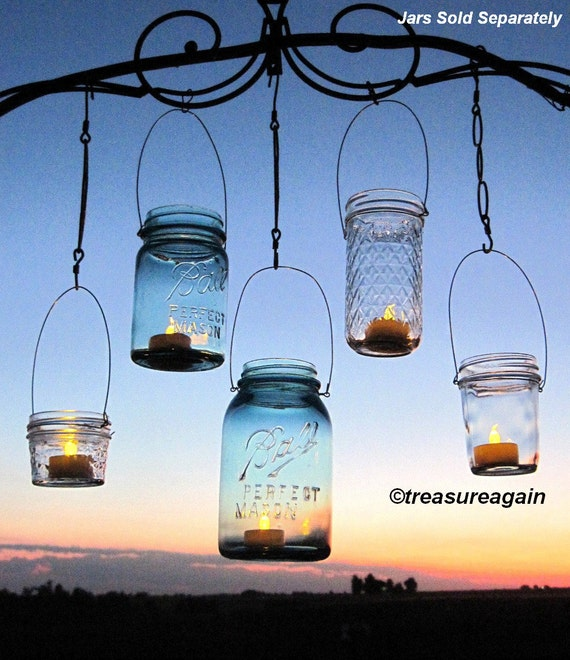 Hanging Outdoor Lights Without Trees: Hanging Lanterns 20 DIY Mason Jar Hangers Outdoor Wedding