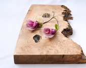 Extra Thick Burl Burst Wooden Serving Board, Natural Edge Salvaged Maple 957, Ready to Ship