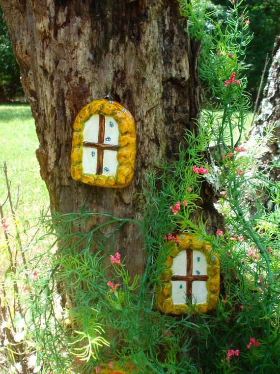 Fairy windows fairy door outdoor decor fairy garden fairy for Outdoor fairy door