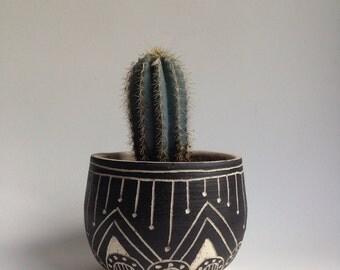T U S C O N  || tribal stoneware planter