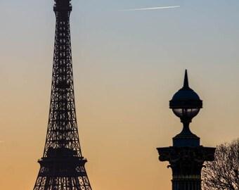 Paris Photography, Eiffel at Dusk, Fine Art Photography, Paris Decor, Eiffel Tower Photo