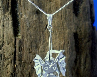 Silver Dragon Pendant, Dragon Necklace, Dragon Jewellery, Handmade, Mythical jewellery, Dragons, Fantasy Jewellery, Dragon Gift