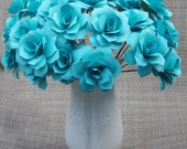 Paper Roses dozen qty  Wrapped and ready to give. Show The Love