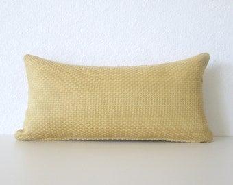 8x16 Rustic Gold Yellow Mini Lumbar Pillow Cover