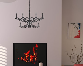 Western Chandelier - Vinyl Wall Decal