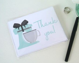 Mixer Bridal Shower Thank You Cards, Wedding