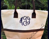 Bridesmaid Jute Tote - Jute Bridesmaid Tote - Personalized Bridesmaid Jute Tote