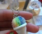Rainbow Snow Cone Necklace