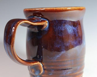 Red and Ice Blue Coffee Tea Mug Cup Tankard Drinking Vessel Kitchen Ware