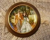 Home to Tara Gone With the Wind Collectible Plate with Frame 1989 W S George