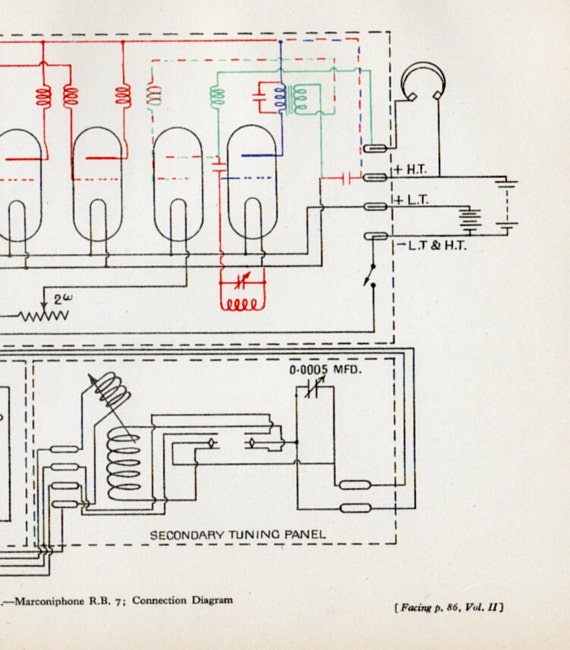 old telephone wiring diagrams marconiphone connection diagram 1929s by thestoryofvintage ...