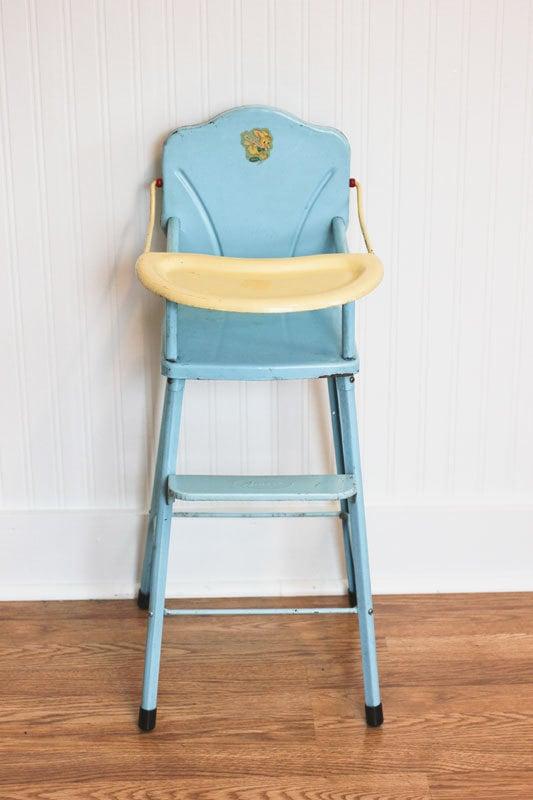 Doll High Chair Vintage Metal High Chair Amsco Doll E