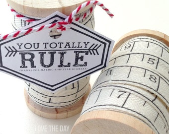 Teacher Appreciation Printable (INSTANT DOWNLOAD) 'You Rule' Tag by Love The Day