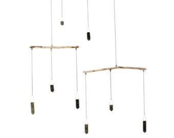 Labradorite Crystal Driftwood Mobile