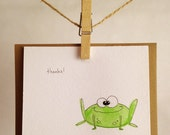 Handmade Frog Card, Greetings, Thanks, Hello, Just Because Card
