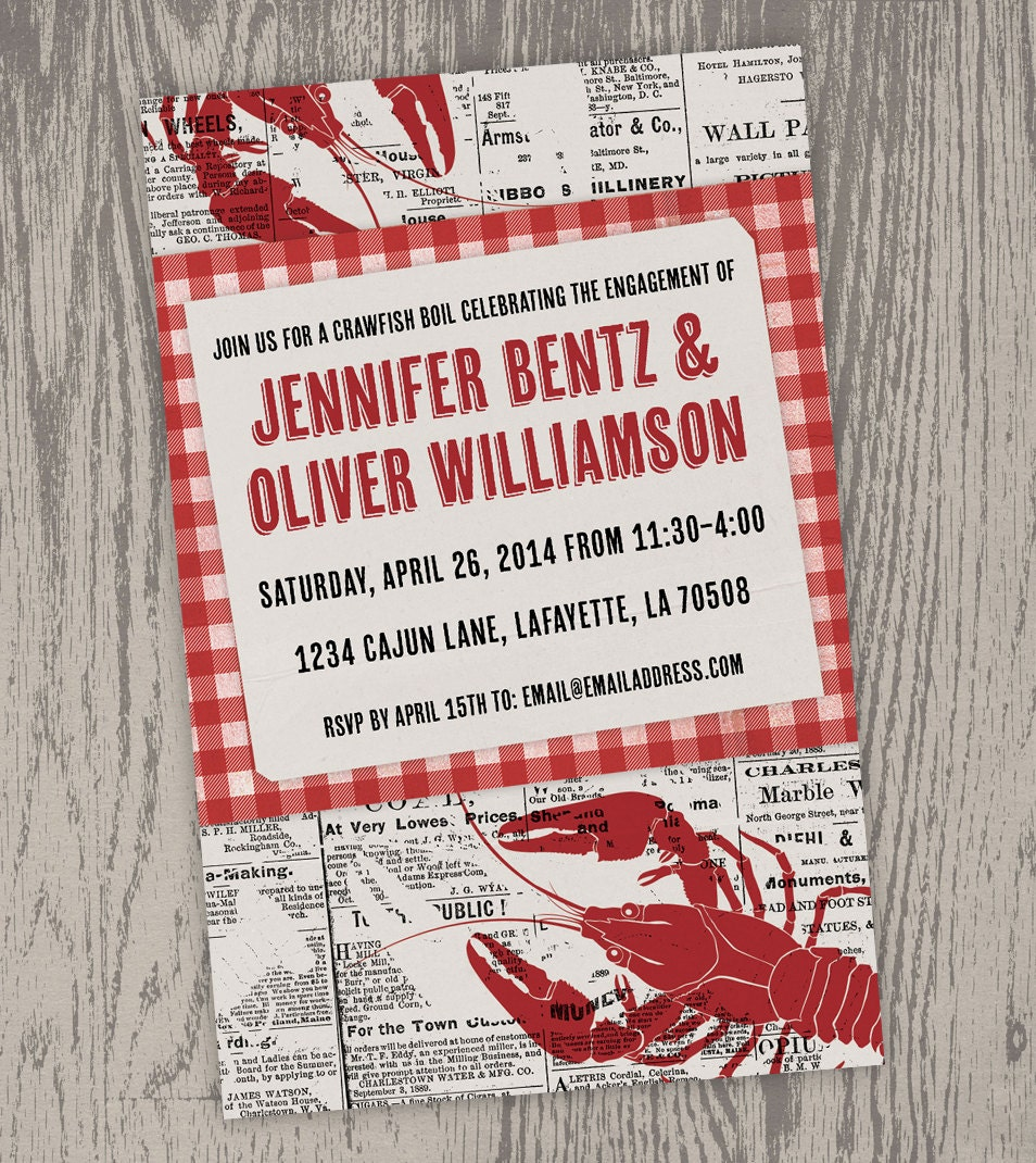 Sizzling image for crawfish boil invitations free printable