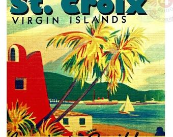 Travel Gift, St Croix Print, beach art US Virgin Islands Photograph usvi art vintage travel art Island art,  beach decor St Croix art