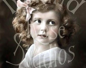 Sadie-Vintage Little Girl-Digital Image Download