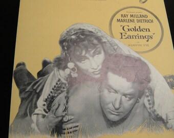 Golden Earrings Marlene Dietrich and Ray Milland Sheet Music 1946