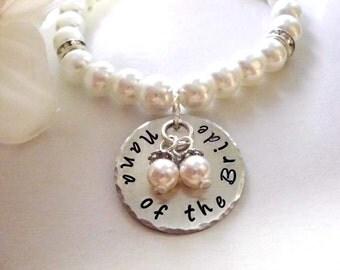 Nana of the Bride Pearl Bracelet, Pearl Bracelet, Bridal Bracelet, Nana of the Bride