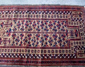 Half Price was 225.00 Balouch Rug// Style of Rug is a Prayer Rug//Balouch Tribe Iran/Pakistan/Afghanistan Balouch Tribe