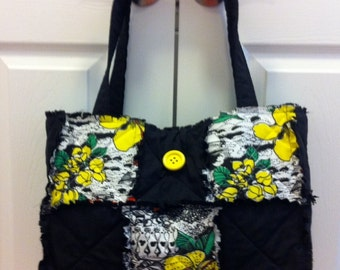 Black and Yellow Rag Bag
