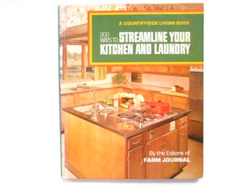 Streamline Your Kitchen and Laundry, a 1971 Vintage Decorating Book