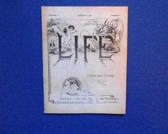 Life, a  Very Small Booklet, 1883 Periodical