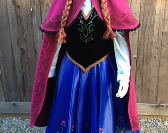 Anna Frozen Park Version Peasant Outfit Costume Couture Custom Made Cosplay