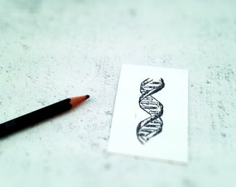The Double Helix DNA Stationary Rubber Stamp