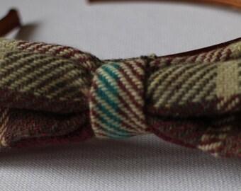 Checked ScottishTweed Hairband