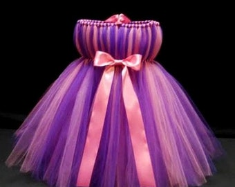 Purple and Pink Tutu Dress-  Abby Cadabby Costume- Birthday Tutu- Baby Tutu- Infant Tutu- Tutu Dress- Available In Size 0-24 months