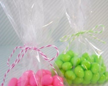 Cello Treat Bag - QTY 20 - Candy Bag - 3.75 x 6 - Clear Treat Bag - Favor Packaging