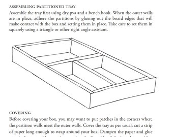 Box Making Handouts: Partitioned Box with a Hinged Lid