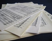 Ephemera Music Pages - Set of 25 - 5 different sources - some Vintage